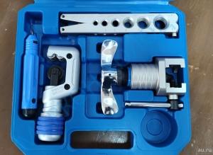 """Вальцовка ATK-1(AITCOOL)  с эксцентриком, для дюймовых медных и алюминиевых труб диаметром (1/4"""", 5/16"""", 3/8"""", 1/2"""", 5/8"""", 3/4"""") в пластиковом кейсе."""